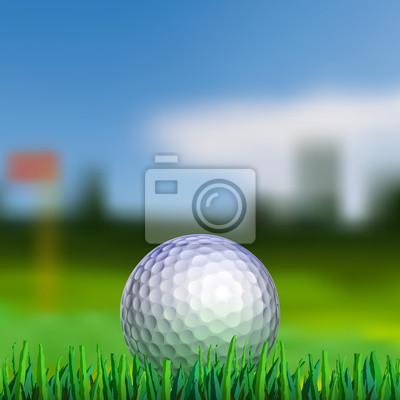 Golf ball on teeing area