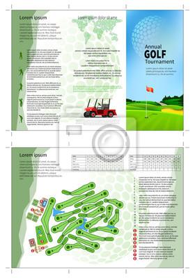 Golf-Broschüre