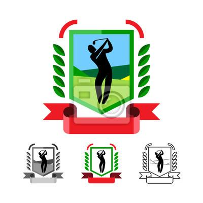 Golf Embleme eingestellt