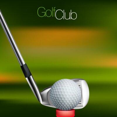 Bild Golf Hintergrund Alle Elemente sind in separaten Ebenen und gruppierte.