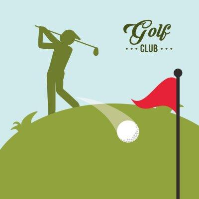 Bild Golf-Ikonenentwurf