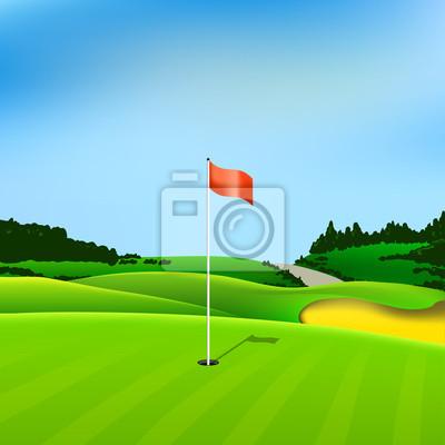 Golf Loch Vektor grün tee Hintergrund