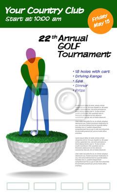 Golf-Ticket-Broschüre Vorlage