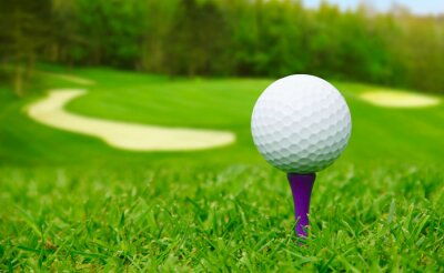 Bild Golfball auf Kurs