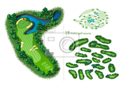 Golfplatz 18 Löcher