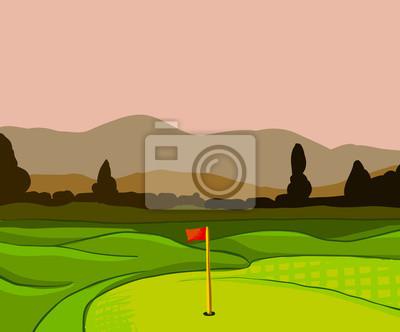 Golfplatz-Vektor-Hintergrund
