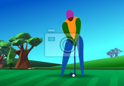 Golfspieler auf Golfplatz
