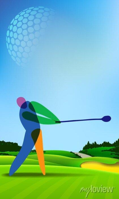 Bild Golfspieler auf Golfplatz