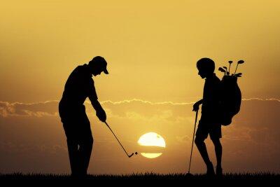 Bild Golfturnier bei Sonnenuntergang