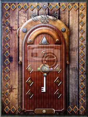 Gothic Tür mit einem geheimnisvollen Schlüssel