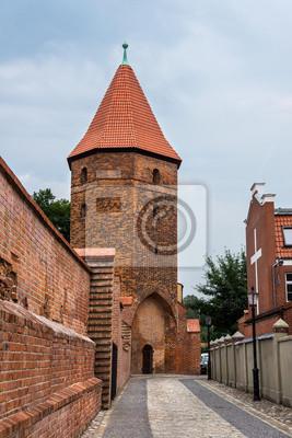 Gothic Wehrturm in Lauenburg, Polen.