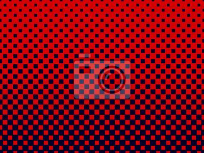 Gradient halbton quadrate hintergrund. pop-art-vorlage. rote ...