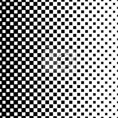 Gradient halbton-quadrate hintergrund. pop-art-vorlage. schwarz-weiß ...