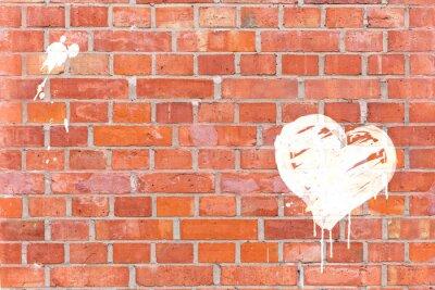 Bild Graffiti-Herz auf eine Mauer gerendert mit Platz für Text