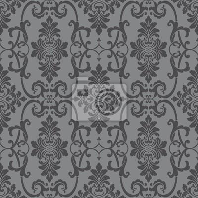 Grau Ornamentalen Nahtlose Muster