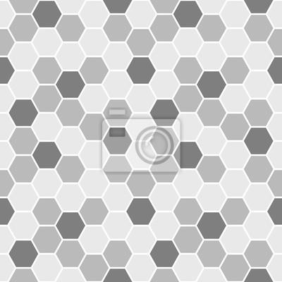 Grau Sechsecke Nahtlose Muster