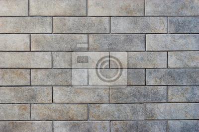 Bild Grau Ziegel Fliesen Wand Hintergrund