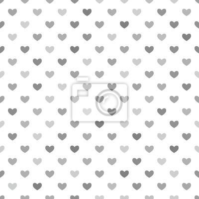 Graue Herzen Nahtlose Muster