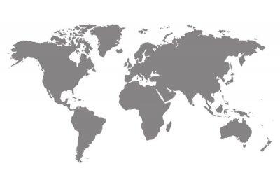 Bild Graue leere Weltkarte.