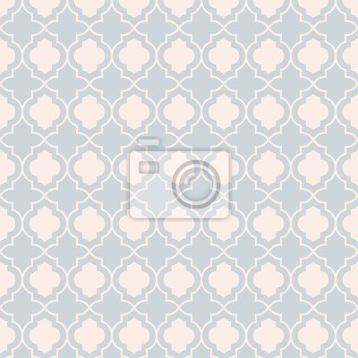 Graue Pastell Traditionelle Geometrische Quatrefoil Trellis Muster