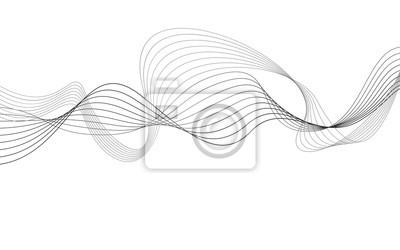 grauer Hintergrund der kurvigen abstrakten Linienwellengrafik