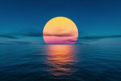 Bild great sunset over the ocean