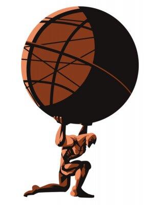 Bild greek mytholofy atlas shrugged holding the globe