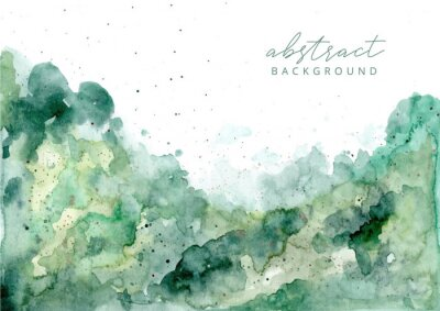 Bild green abstract watercolor texture background