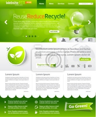 Green eco Website-Templates