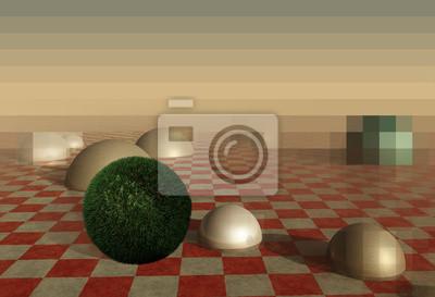 Green gass ball