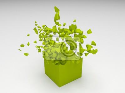 Bild Green gerenderten Würfel