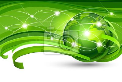 Bild Green Planet. Vektor-Illustration