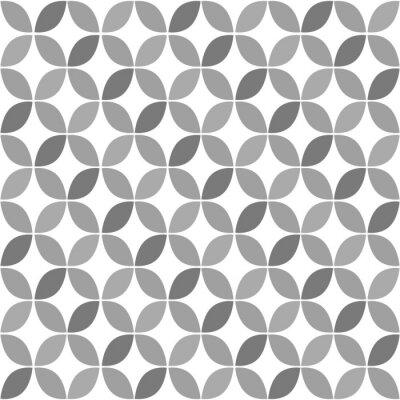Grey Geometric Retro Seamless Pattern