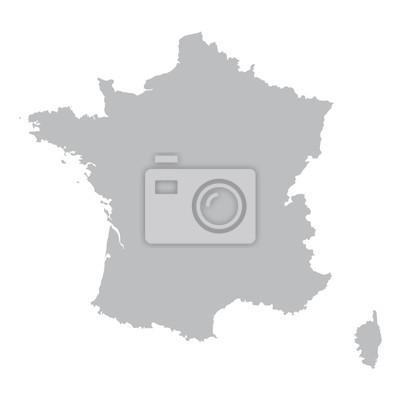 Bild grey map of France
