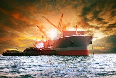 Bild Großcontainer Schiffsladeindustrie Produkt für Logistikgeschäft