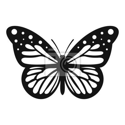 Bild Große Schmetterlingssymbol. Einfache Darstellung der großen Schmetterling Vektor-Symbol für Web