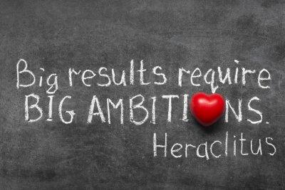 Bild großen Ambitionen