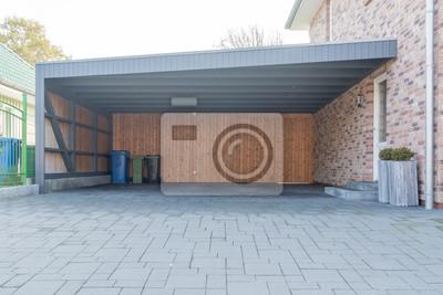 Grosser Carport Aus Holz Leinwandbilder Bilder Carport Einbaum