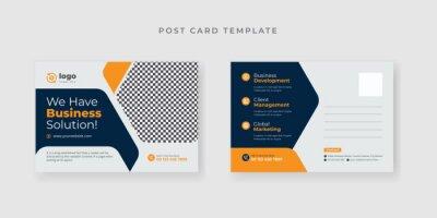 Bild Grow Your Business Marketing Agency Corporate Postcard template with creative design Premium Vector.