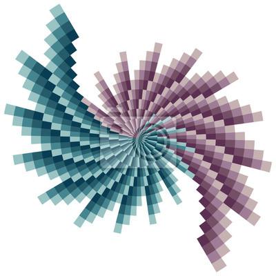 Grün-lila Spirale Muster