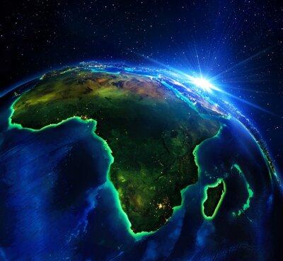 Bild Grundstücksfläche in Afrika, in der Nacht