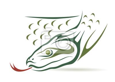Grüne Anakonda - Vektor-Illustration
