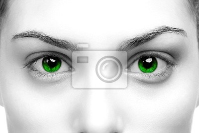 Bild grüne Augen