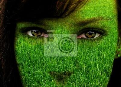 grüne Gesicht