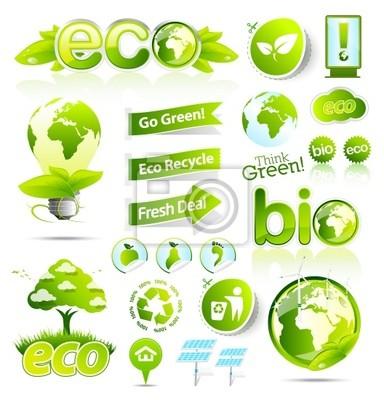 Grüne Öko-und Bio-Sammlung