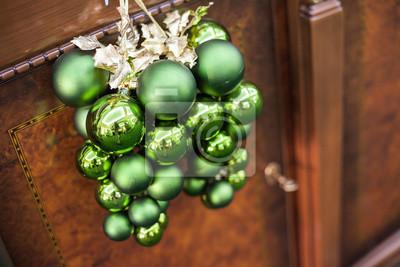 Grüne Weihnachten Spielzeug Bälle