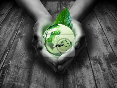grüne Welt im Herzen der Hand - Gras Hintergrund