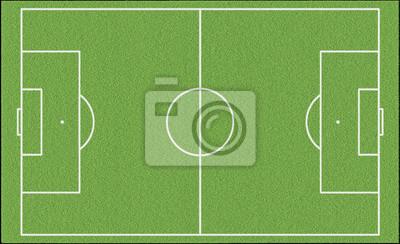 Gruner Fussball Perfekt Spielfeld Leinwandbilder Bilder