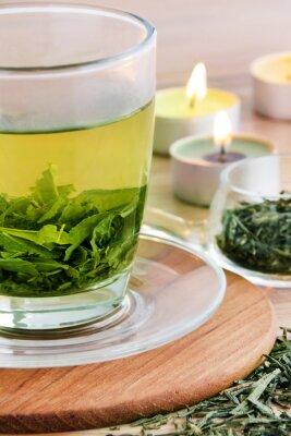 Bild Grüner Tee und Kerzen