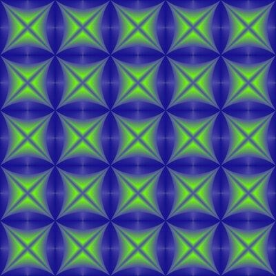Bild Grünes Blau gemischtes geometrisches nahtloses Muster.
